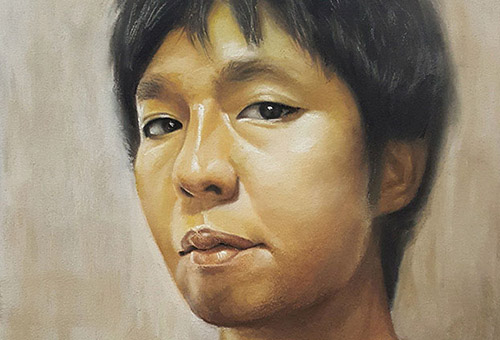 J.M.W - Commissioned portrait drawing by Singapore artist Liu Ling