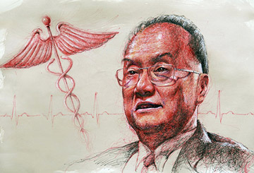 Dr. Chatree - portrait illustration commission art for Our Better World by Singapore realist artist Liu Ling